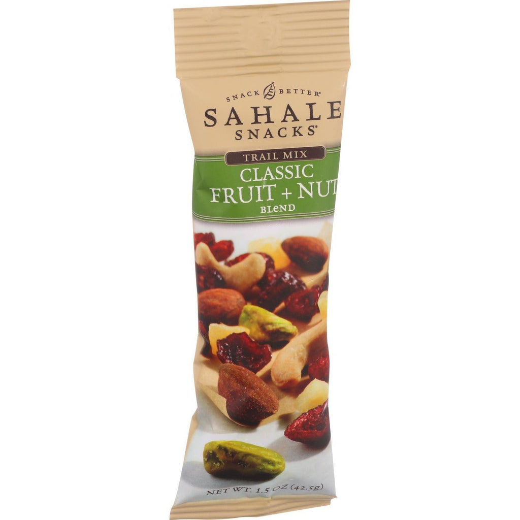 Sahale Snacks Trail Mix - Classic Fruit And Nut Blend - 1.5 Oz - Case Of 9-Sahale Snacks-pantryperks