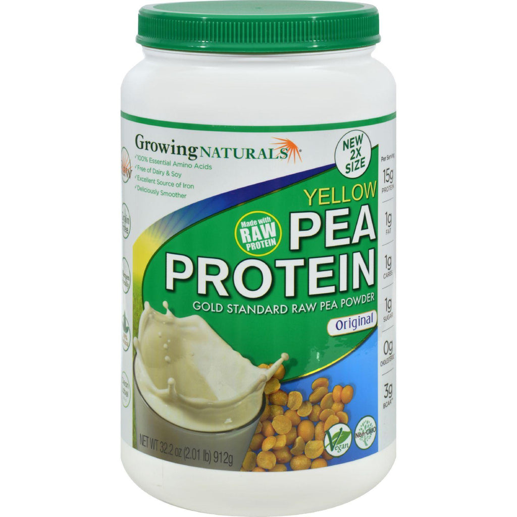 Growing Naturals Pea Protein Powder - Original Flavor - 32.2 Oz-Growing Naturals-pantryperks