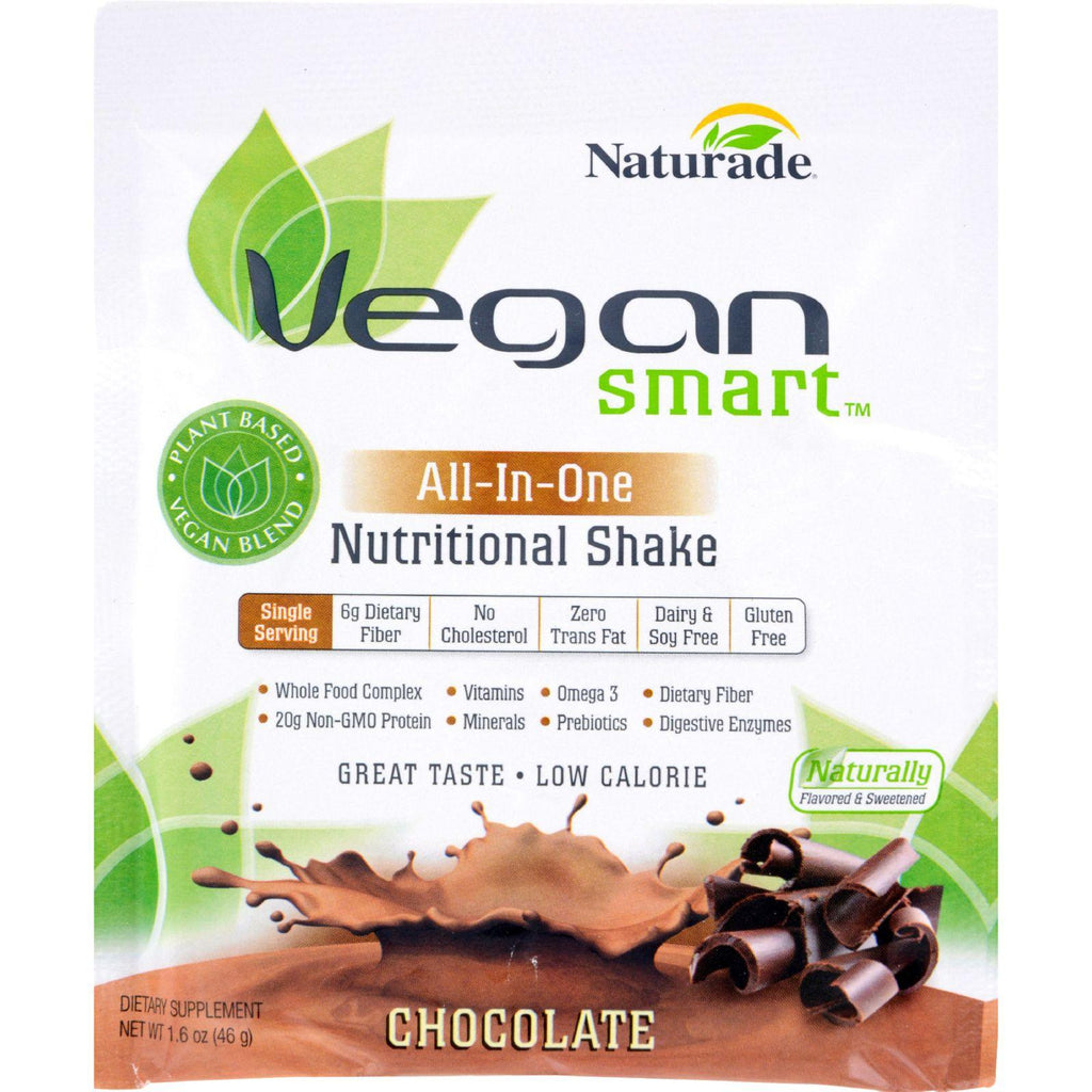 Naturade Vegansmart All-in-one Nutritional Shake - Chocolate - 1.62 Oz - Case Of 12-Naturade-pantryperks