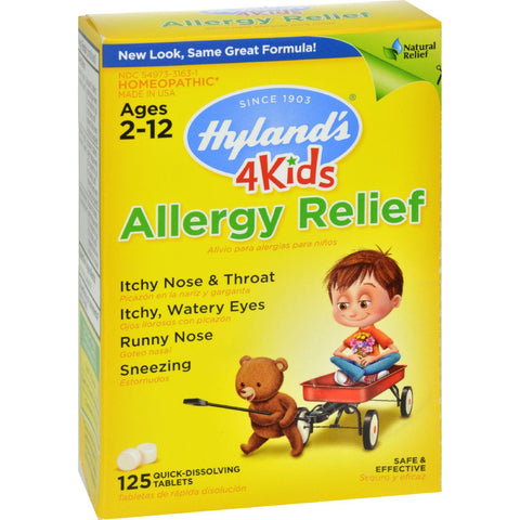 Hyland's Allergy Relief 4 Kids - 125 Tablets-Hyland's-pantryperks