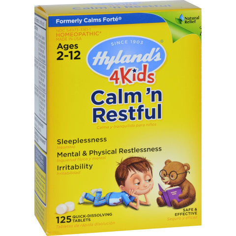 Hyland's 4 Kids Natural Calm'n Restful Tablets - Natural Relief of Sleeplessness and Restlessness in Kids - 125 Count-Hyland's-pantryperks