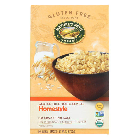 Nature's Path Organic Gluten Free Instant Hot Oatmeal Homestyle - 8 Packets-Nature's Path-pantryperks