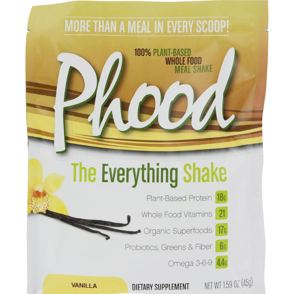 Plantfusion Phood Packets - Vanilla - 1.59 Oz - Case Of 12-Plantfusion-pantryperks