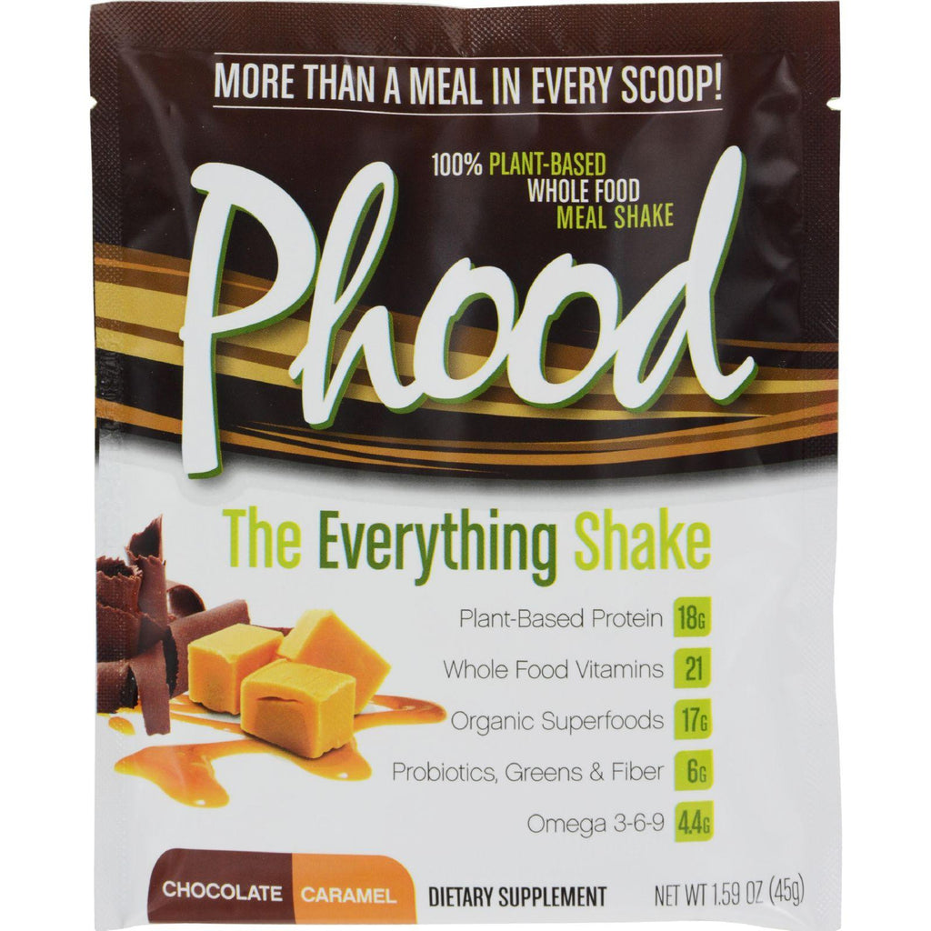 Plantfusion Phood Packets - Chocolate Caramel - 1.59 Oz - Case Of 12-Plantfusion-pantryperks
