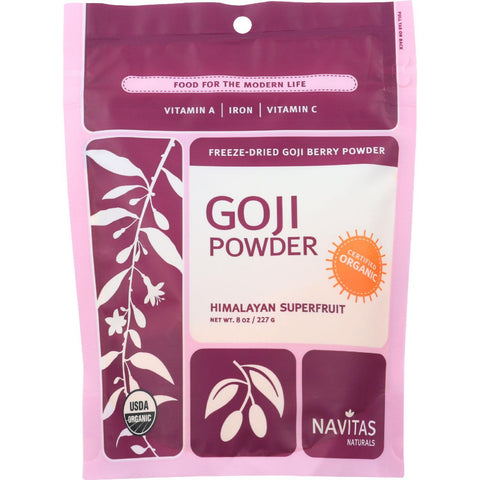 Navitas Naturals Goji Berry Powder - Organic - Freeze-dried - 8 Oz - Case Of 12-Navitas Naturals-pantryperks