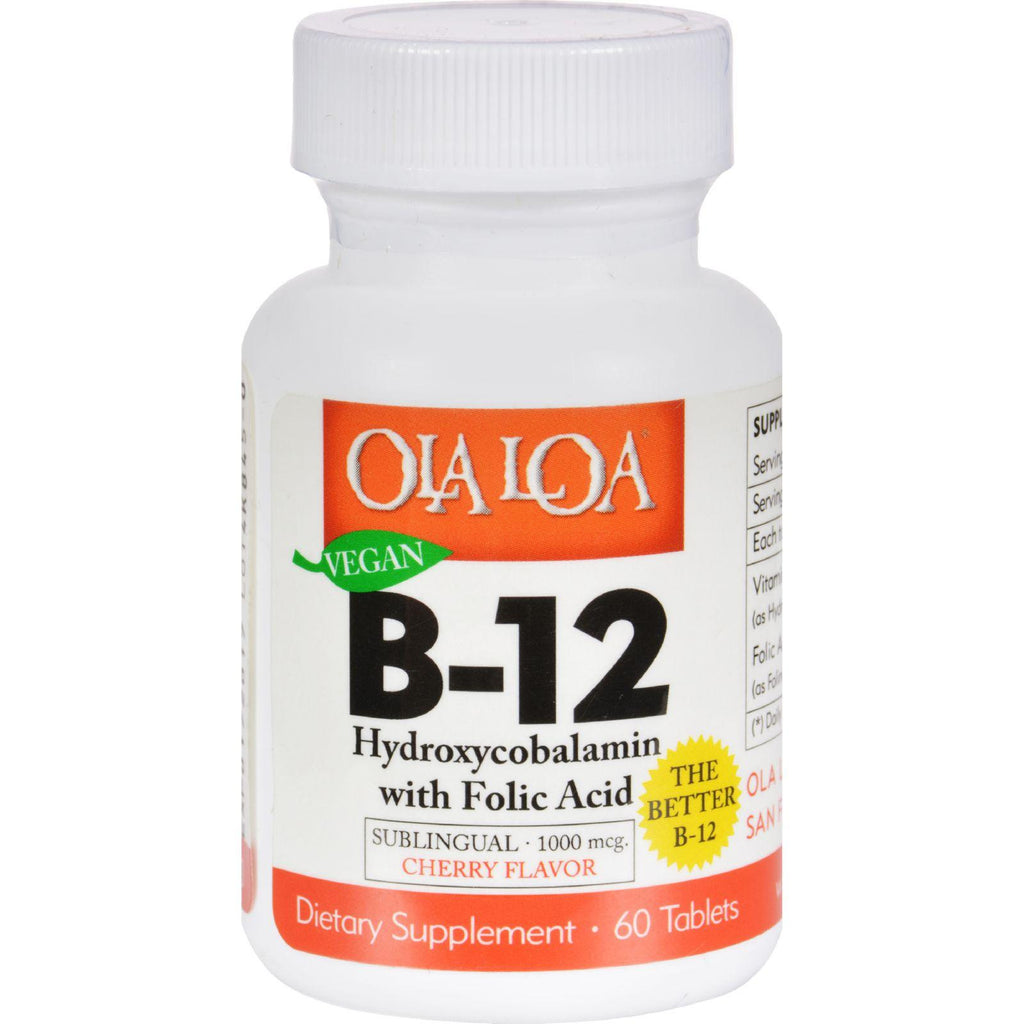Ola Loa Products Sublingual Hydroxycobalamin B12 - 60 Tablets-Ola Loa Products-pantryperks