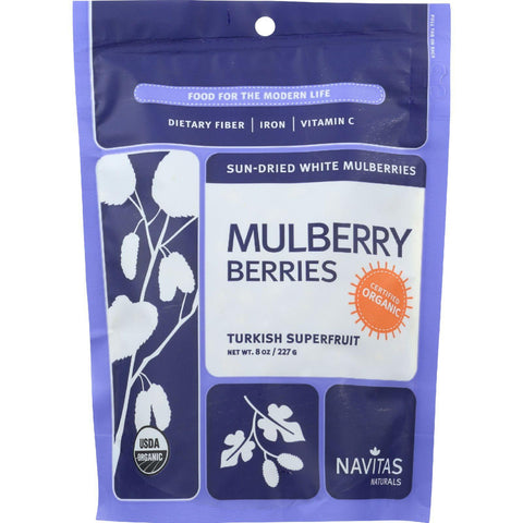 Navitas Naturals Mulberry Berries - Organic - Sun-dried - 8 Oz - Case Of 12-Navitas Naturals-pantryperks