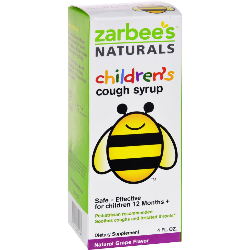Zarbee's All Natural Children's Cough Syrup - Grape - 4 Oz-Zarbee's-pantryperks