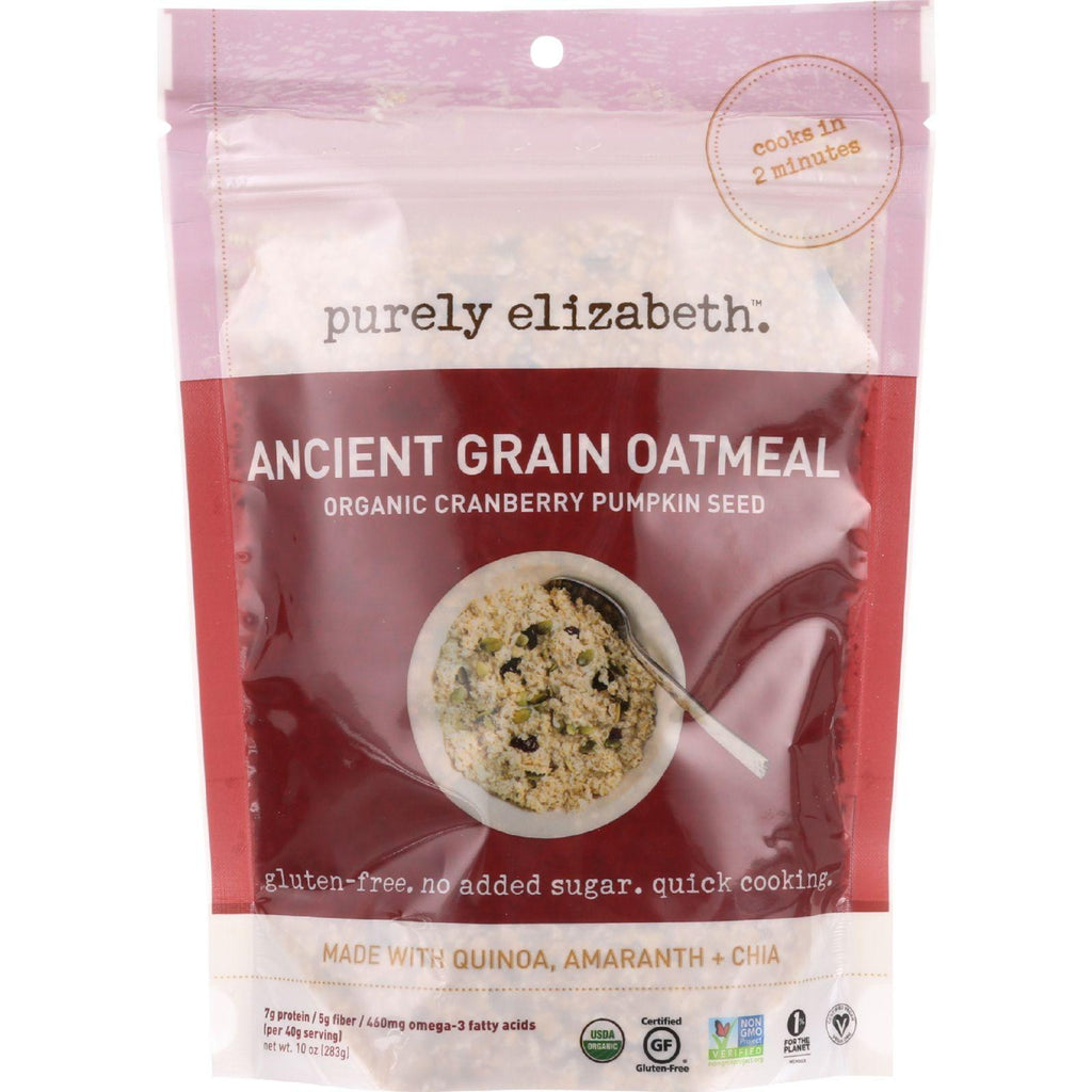 Purely Elizabeth Oatmeal - Organic - Ancient Grain - Cranberry Pumpkin Seed - 10 Oz - Case Of 6-Purely Elizabeth-pantryperks