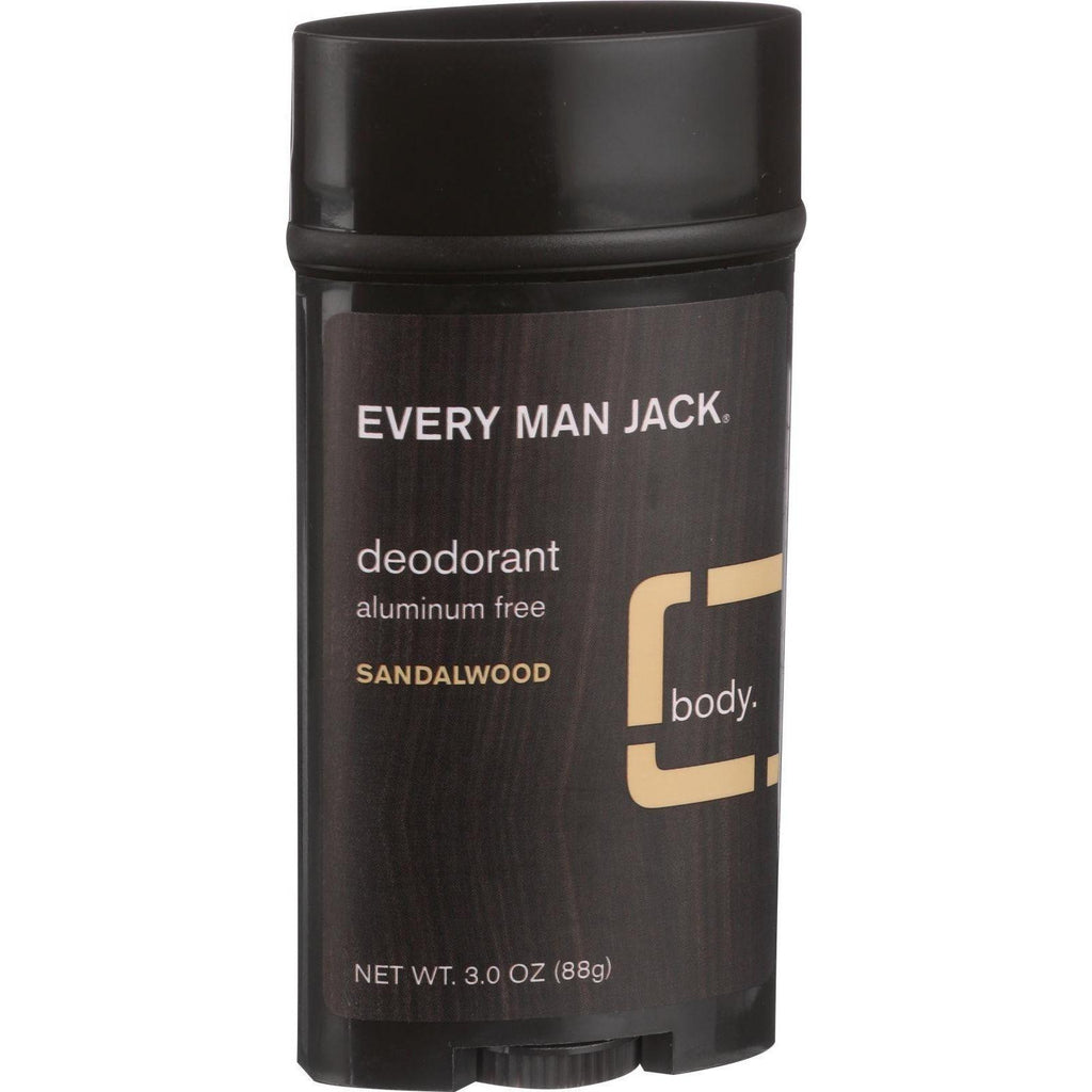 Every Man Jack Dedorant Stick Sandalwood - 3 oz-Every Man Jack-pantryperks