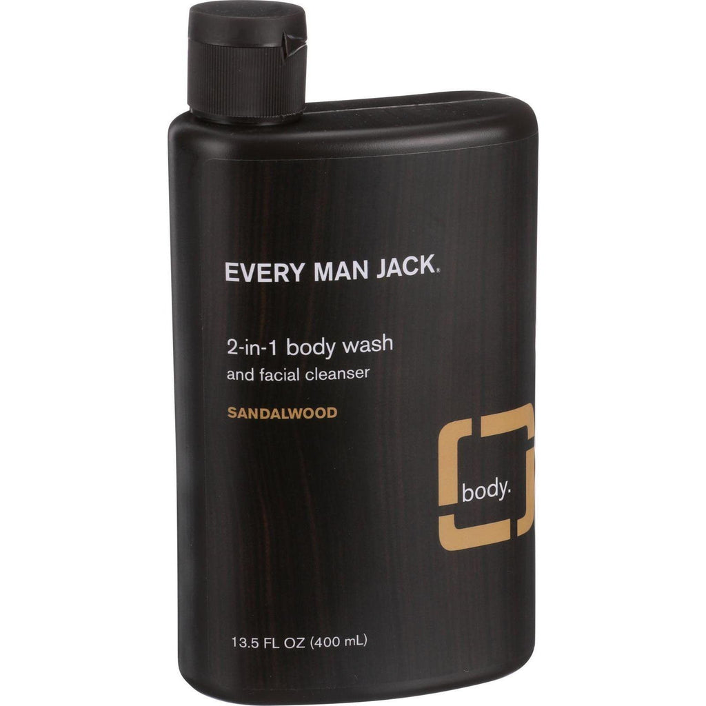 Every Man Jack 2-in-1 Body Wash Sandalwood - 13.5 fl oz-Every Man Jack-pantryperks