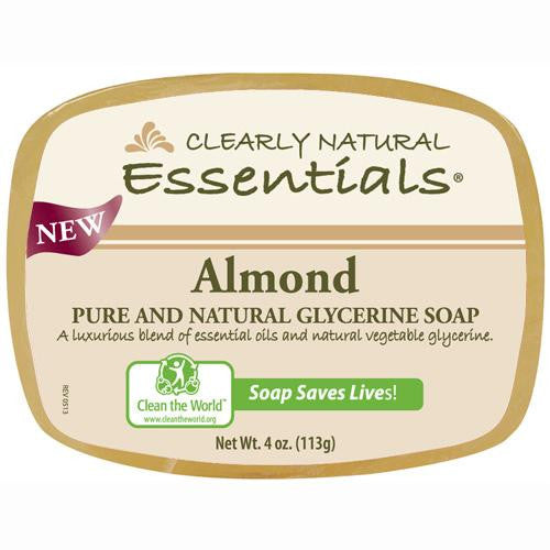 Clearly Natural Glycerine Bar Soap Almond - 4 oz-Clearly Natural-pantryperks