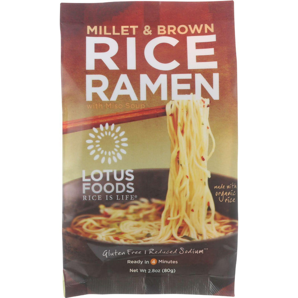 Lotus Foods Ramen Soup Mix Millet & Brown Rice - 2.8 oz-Lotus Foods-pantryperks