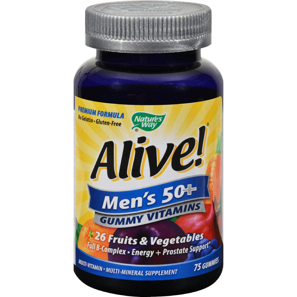 Nature's Way Alive - Men's 50+ Gummy Multi-vitamins - 75 Chewables-Nature's Way-pantryperks
