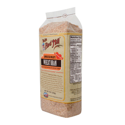 Bob's Red Mill Unprocessed Miller's Wheat Bran - 8 oz-Bob's Red Mill-pantryperks