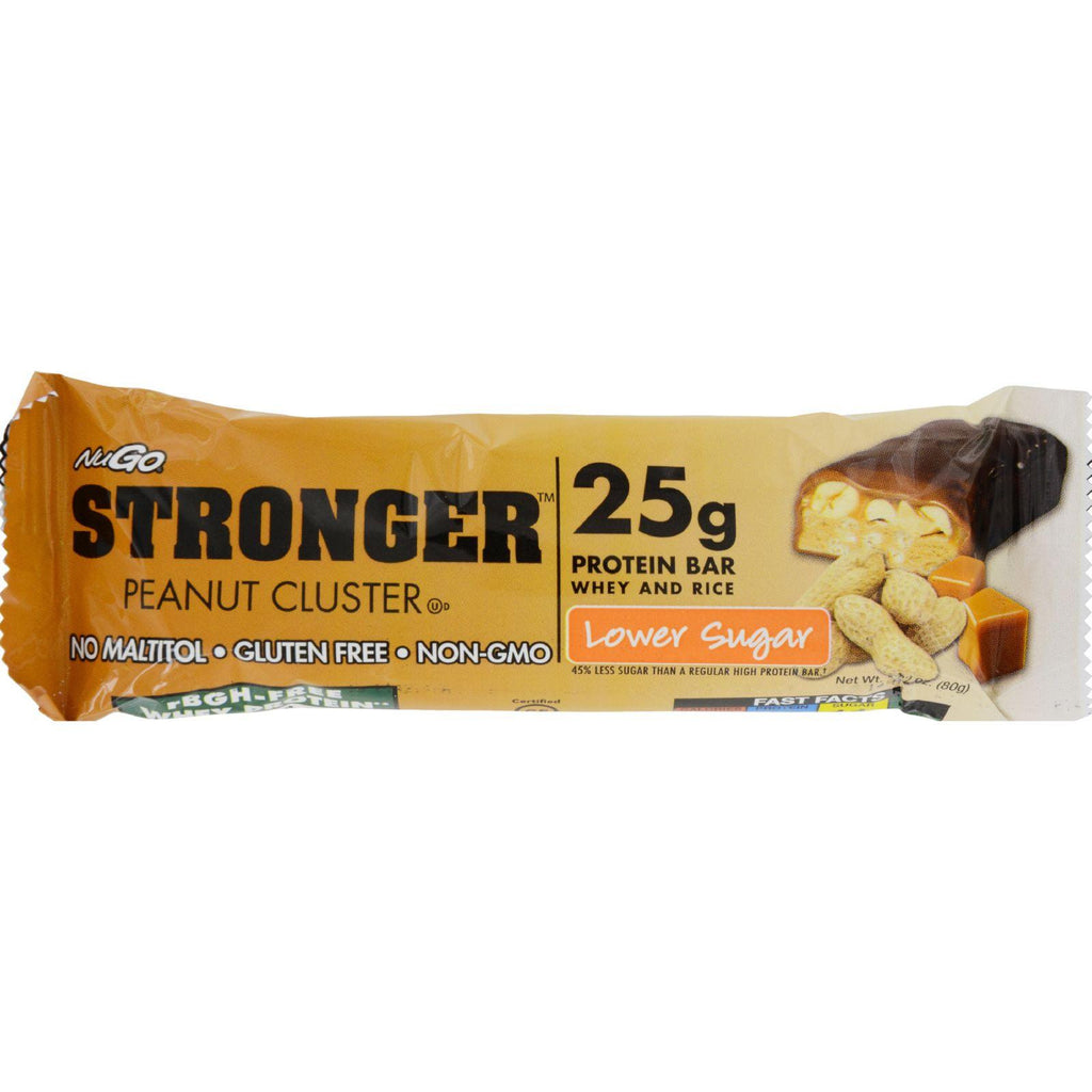 Nugo Nutrition Bar - Stronger Peanut Cluster - 2.82 Oz - Case Of 12-Nugo Nutrition-pantryperks
