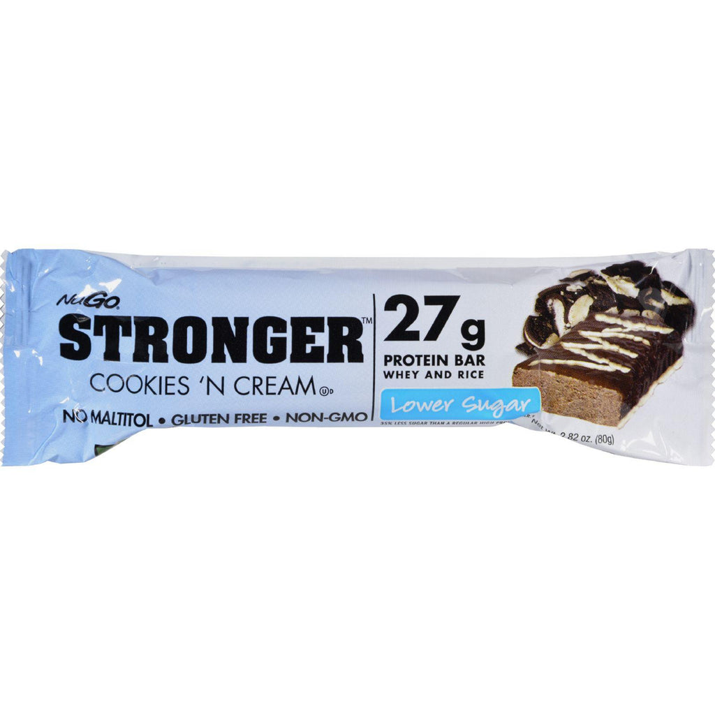 Nugo Nutrition Bar - Stronger Cookies N Cream - 2.82 Oz - Case Of 12-Nugo Nutrition-pantryperks