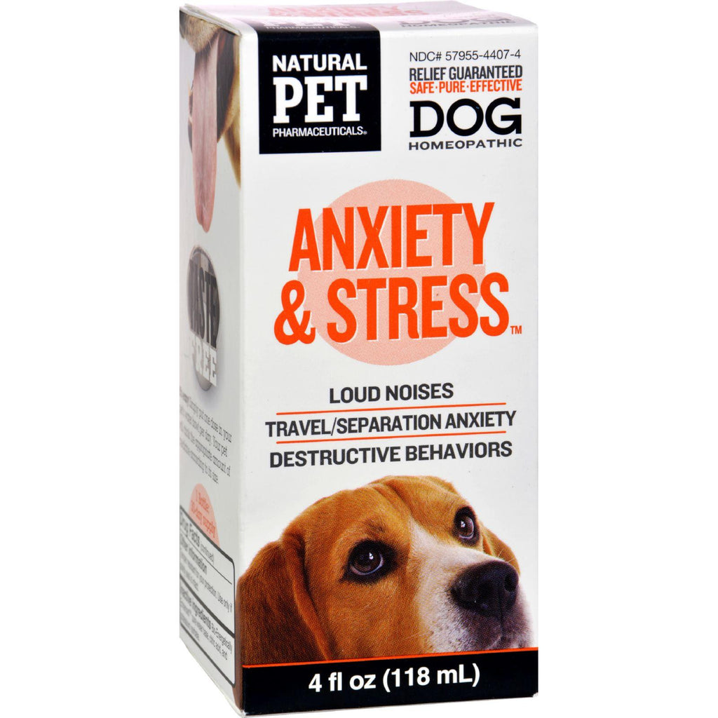 King Bio Homeopathic Natural Pet Dog - Anxiety And Stress - 4 Oz-King Bio Homeopathic-pantryperks