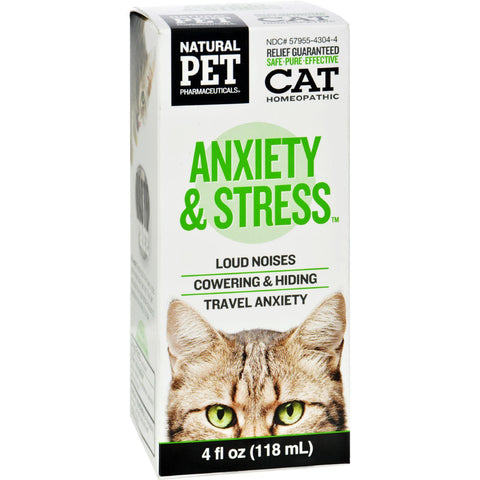 King Bio Homeopathic Natural Pet Cat - Anxiety And Stress - 4 Oz-King Bio Homeopathic-pantryperks