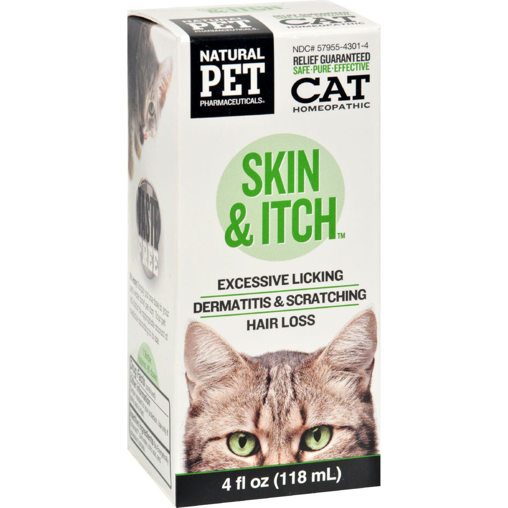 King Bio Homeopathic Natural Pet Cat - Skin And Itch - 4 Oz-King Bio Homeopathic-pantryperks