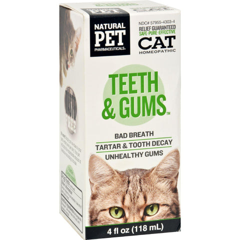 King Bio Homeopathic Natural Pet Cat - Teeth And Gums - 4 Oz-King Bio Homeopathic-pantryperks