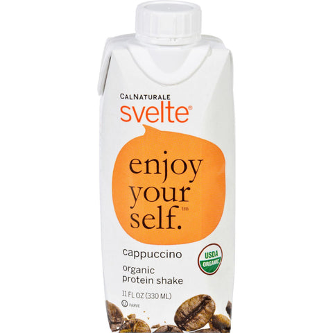 CalNaturale Svelte Organic Protein Shake - Cappuccino - 11 Ounce-Svelte-pantryperks