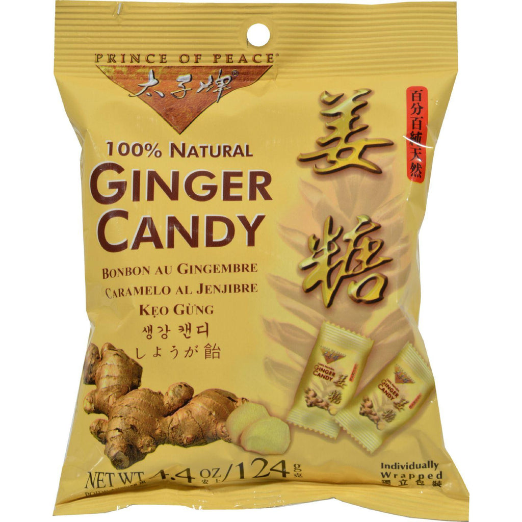 Prince Of Peace 100% Natural Ginger Candy Chews - 4.4 Oz-Prince Of Peace-pantryperks