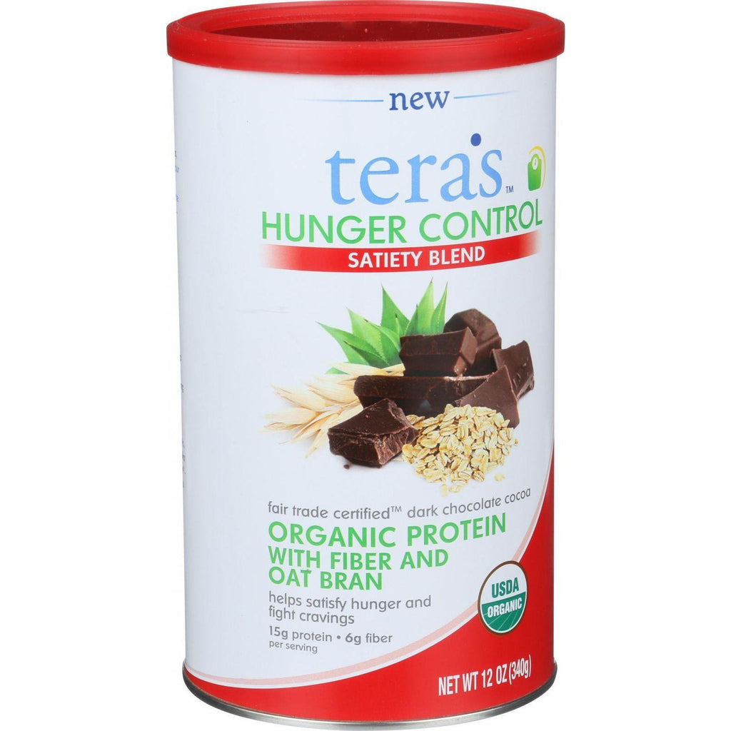 Tera's Whey Hunger Control - Sateity Blend - Fair Trade Certified Dark Chocolate Cocoa - 12 Oz-Tera's Whey-pantryperks