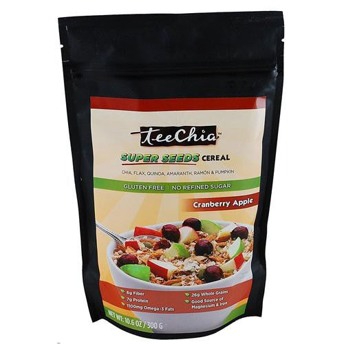 TeeChia Super Seeds Cereal Cranberry Apple - 10.6 oz-Teechia-pantryperks