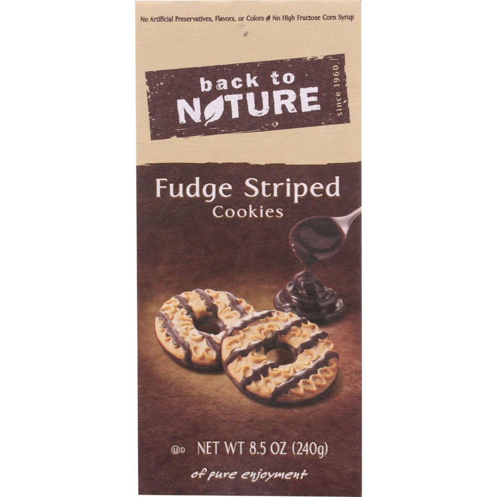 Back to Nature Cookies - Fudge Striped - 8.5 Ounce-Back To Nature-pantryperks