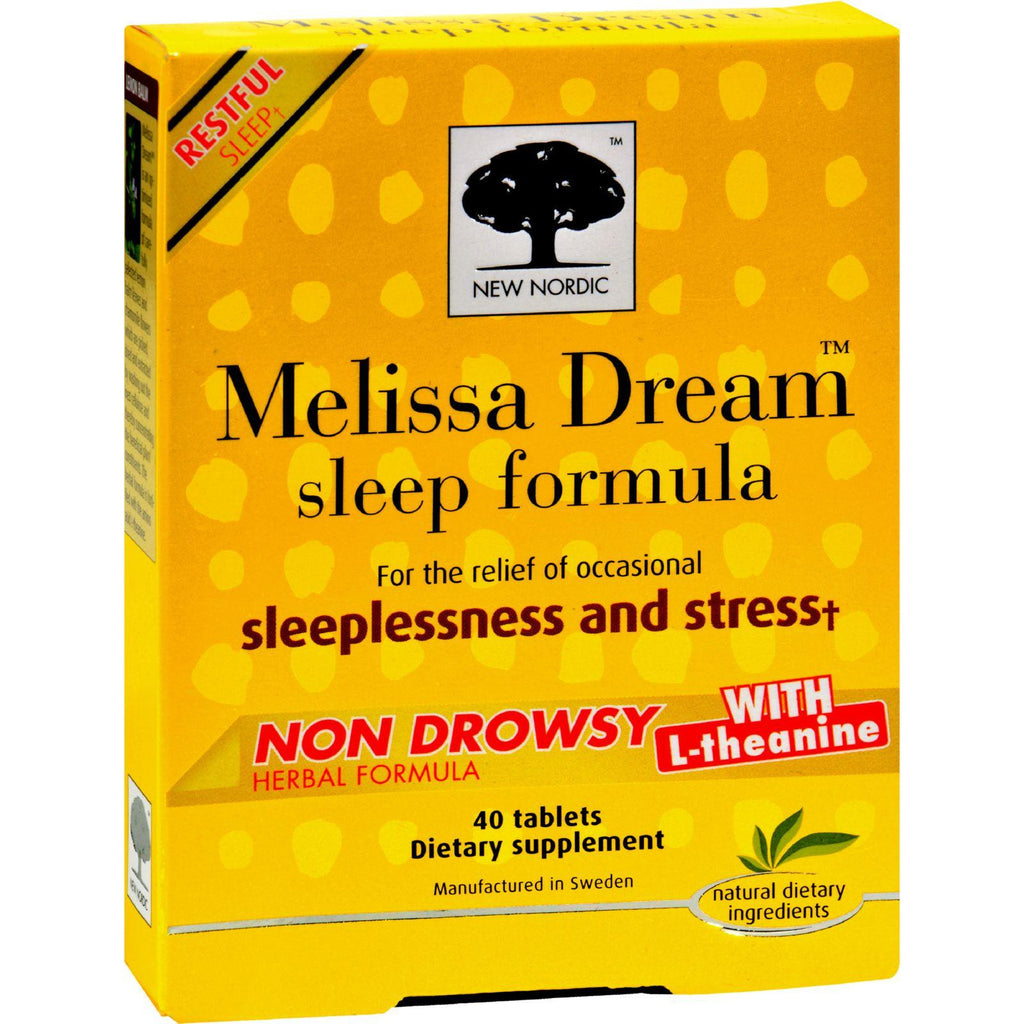 New Nordic Melissa Dream - 40 Tablets-New Nordic-pantryperks