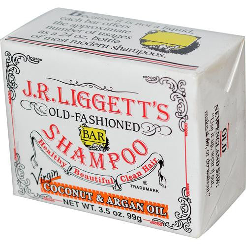 J.r. Liggett's Old Fashioned Bar Shampoo Counter Display - Virgin Coconut And Argan Oil - 3.5 Oz - Case Of 12-J.r. Liggett's-pantryperks