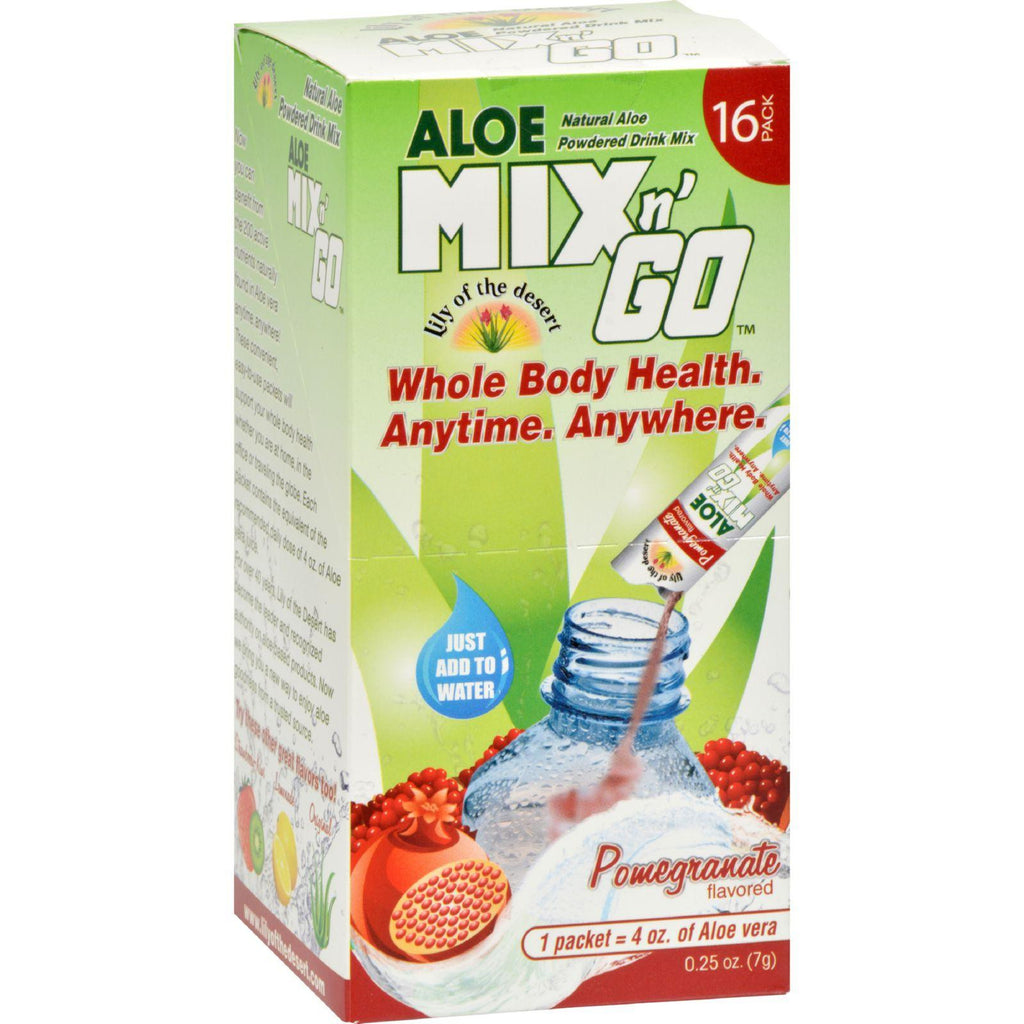 Lily Of The Desert Aloe Drink Mix - Mix N Go Pomegranate - 16 Packets-Lily Of The Desert-pantryperks