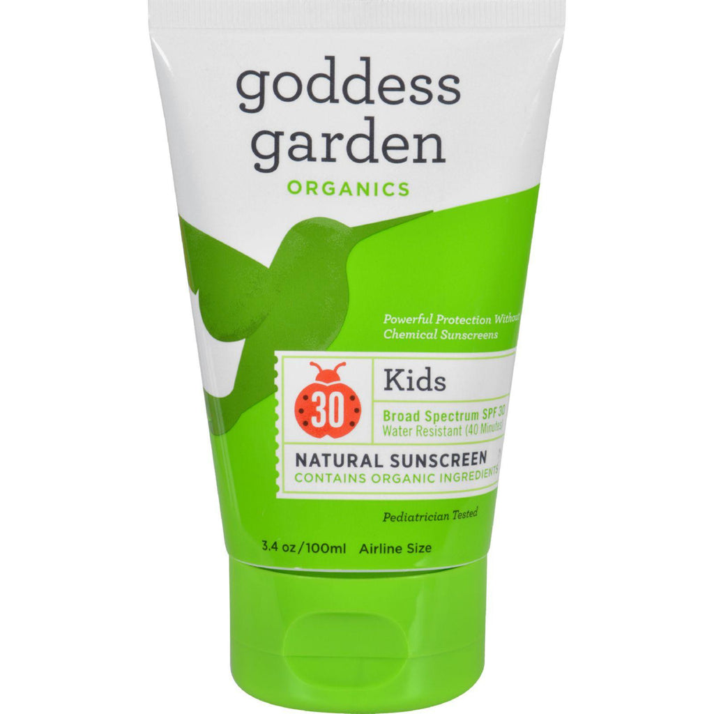 Goddess Garden Organics Vegan and Biodegradable Kids SPF 30 Natural Sunscreen - Lotion - 3.4 Ounce-Goddess Garden-pantryperks