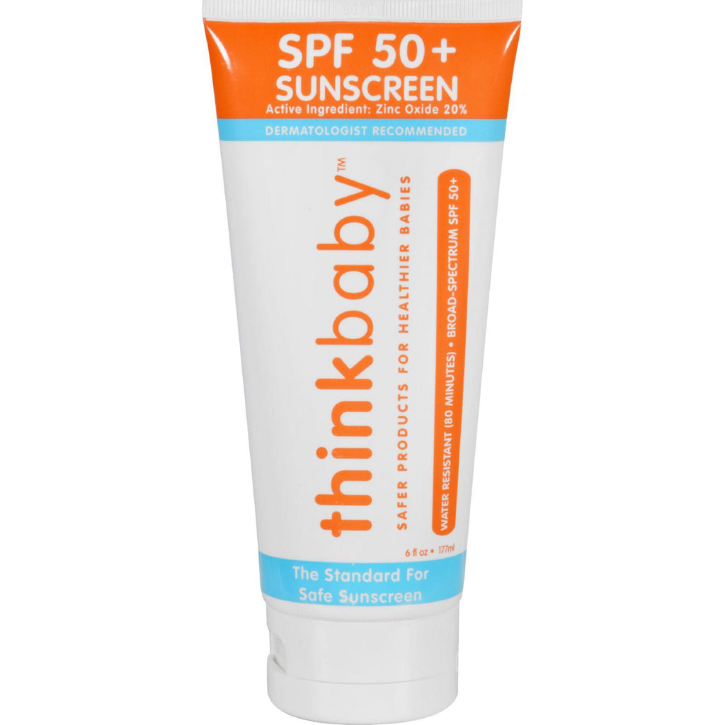 Thinkbaby Sunscreen - Safe - Baby - Spf 50 Plus - 6 Oz-Thinkbaby-pantryperks