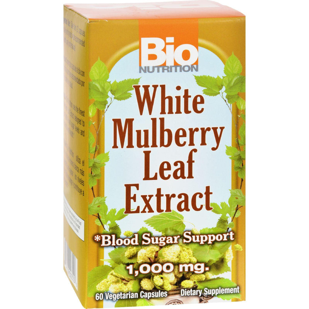 Bio Nutrition Inc White Mulberry Leaf Extract - 1000 Mg - 60 Veg Capsules-Bio Nutrition-pantryperks