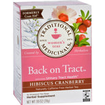 Traditional Medicinals Tea - Back On Tract - Hbscs Crnbrry - 16 Ct - 1 Case-Traditional Medicinals-pantryperks
