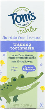 Tom's of Maine Toddler Fluoride-Free Natural Training Toothpaste Mild Fruit - 1.75 oz-Tom's Of Maine-pantryperks