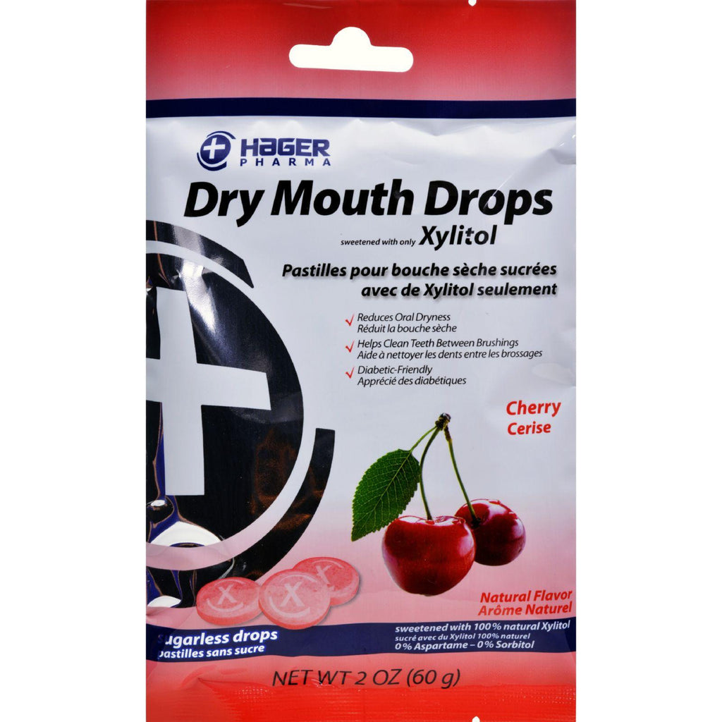 Hager Pharma Dry Mouth Drops - Cherry - 2 Oz-Hager Pharma-pantryperks