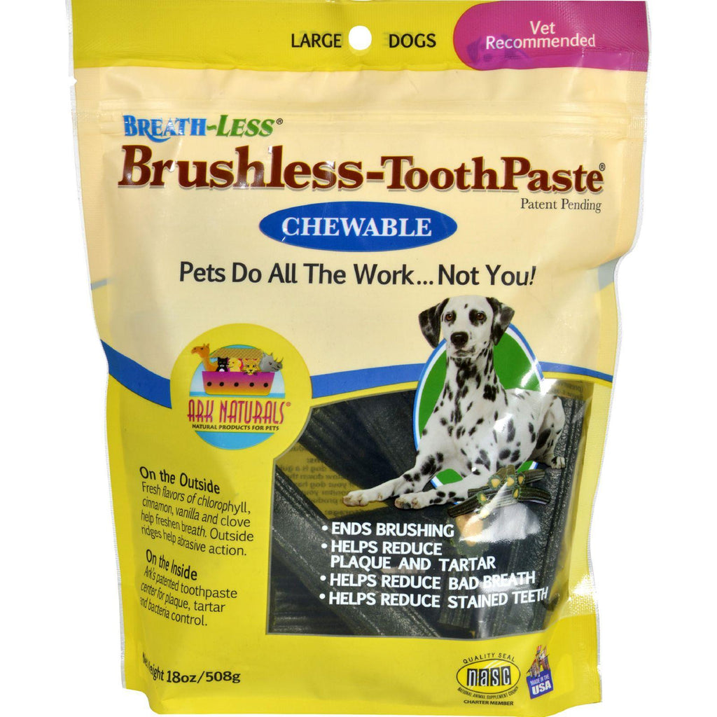 Ark Naturals Breath-less Brushless-toothpaste - Chewable - Large Dogs - 18 Oz-Ark Naturals-pantryperks