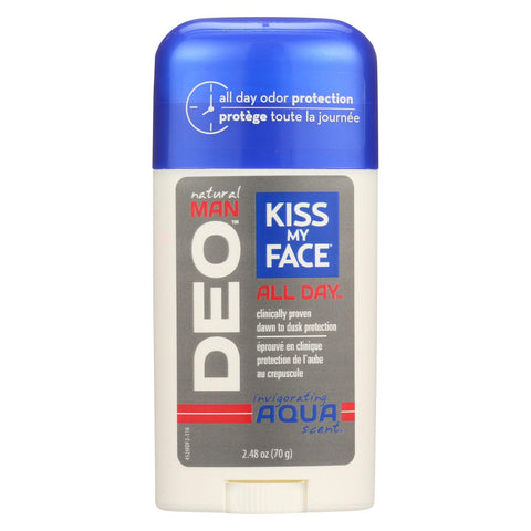 Kiss My Face Natural Man䋢 DEO All Day䋢 Deodorant Aqua - 2.48 oz-Kiss My Face-pantryperks