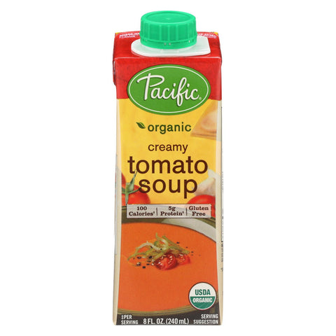 Pacific Natural Foods Organic Single Serve Soup Creamy Tomato - 8 fl oz-Pacific Natural Foods-pantryperks