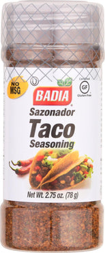 Badia Spices Taco Seasoning - Case Of 12 - 2.75 Oz.-Badia Spices-pantryperks