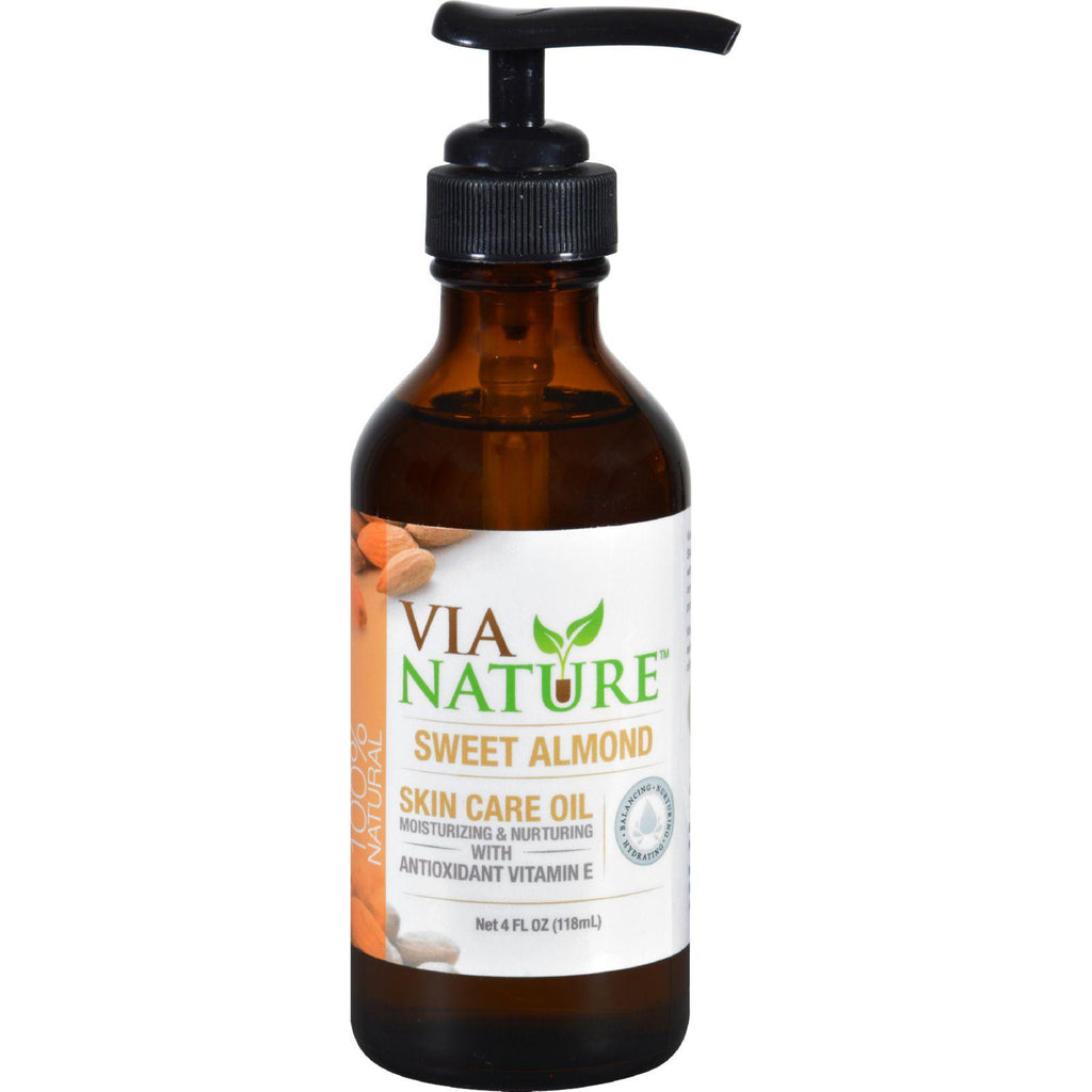 Via Nature Carrier Skin Care Oil - Sweet Almond - Moisturizing - 4 Fl Oz-Via Nature-pantryperks