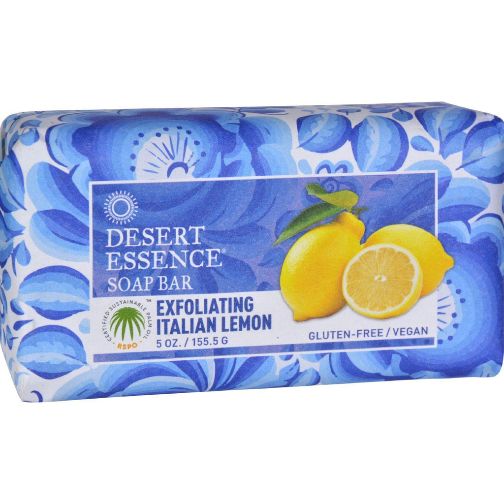 Desert Essence Bar Soap - Exfoliating Italian Lemon - 5 Oz-Desert Essence-pantryperks
