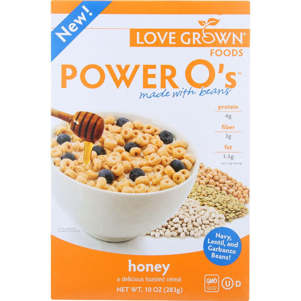 Love Grown Foods Cereal - Power Os - Honey - 10 Oz - Case Of 6-Love Grown Foods-pantryperks