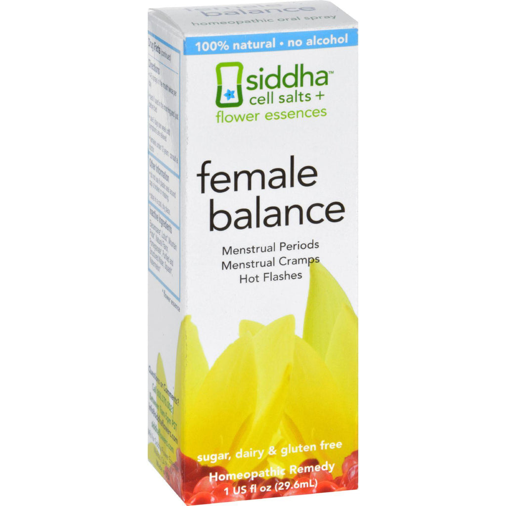 Siddha Flower Essences Female Balance - 1 Fl Oz-Siddha Flower Essences-pantryperks