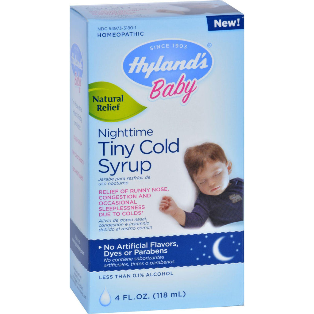 Hylands Homepathic Cold Syrup - Nighttime Tiny - Baby - 4 Fl Oz-Hyland's-pantryperks