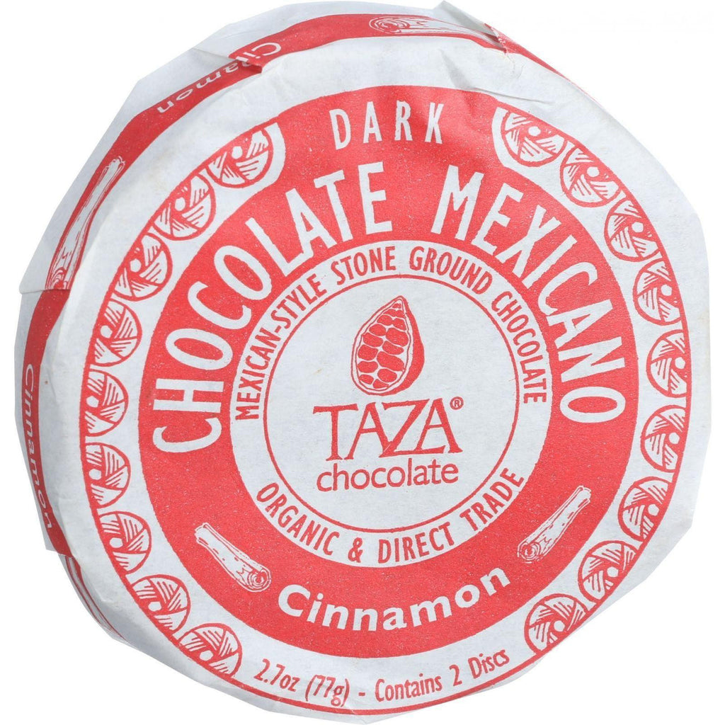 Taza Chocolate Organic Chocolate Mexicano Discs - 50 Percent Dark Chocolate - Cinnamon - 2.7 Oz - Case Of 12-Taza Chocolate-pantryperks