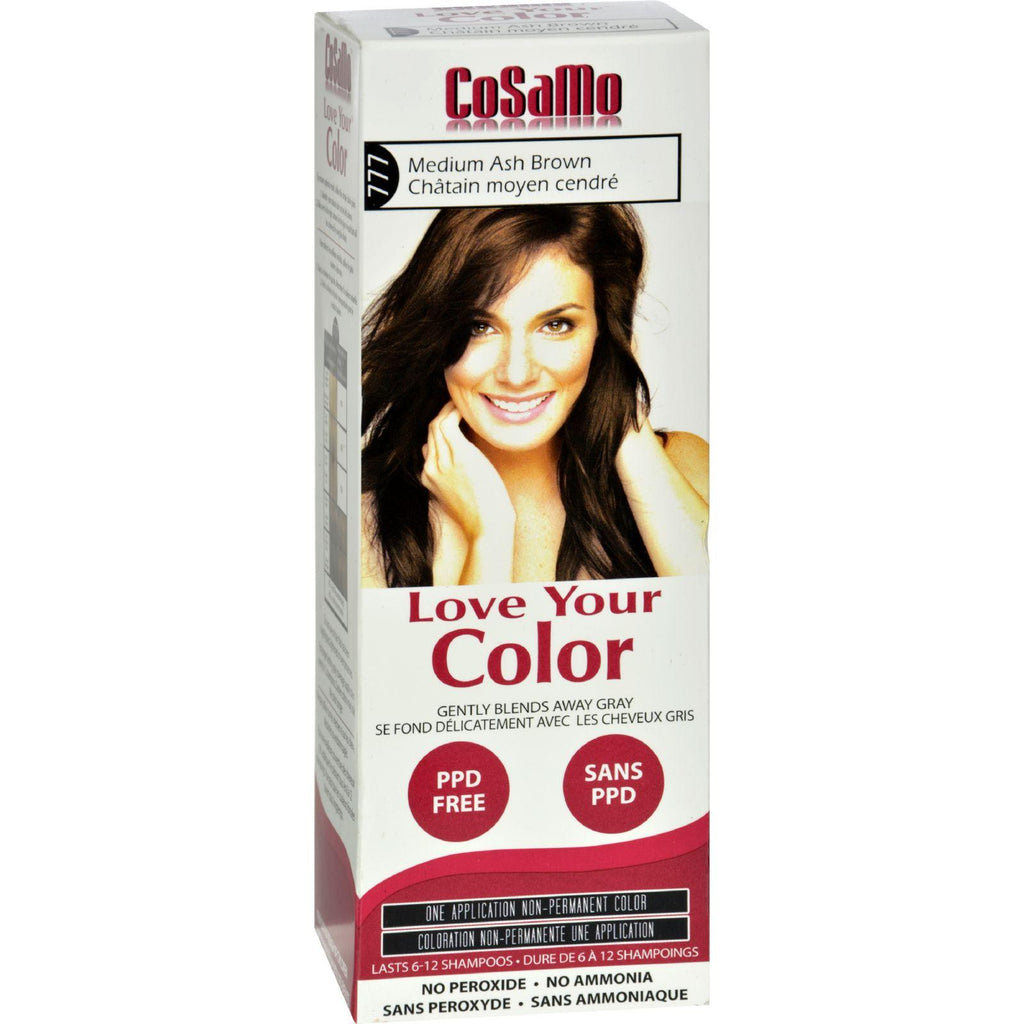 Love Your Color Hair Color - Cosamo - Non Permanent - Med Ash Brown - 1 Ct-Love Your Color-pantryperks